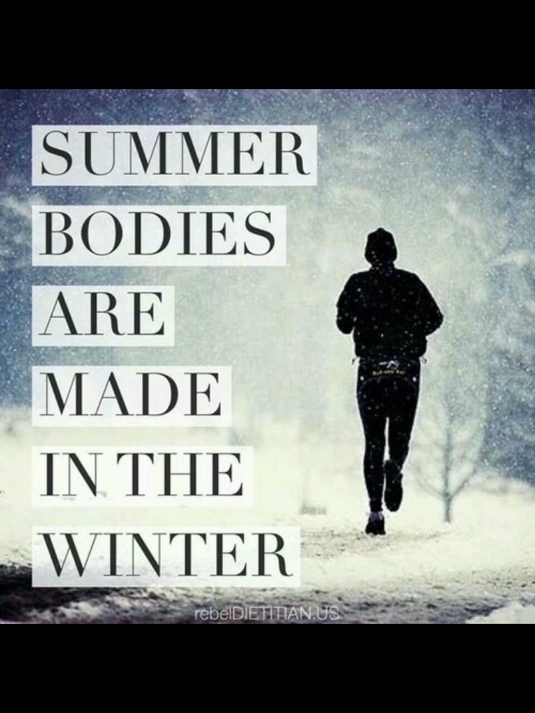 Running in the winter